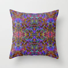 #pillow #fractal #floral #abstract Fractal Floral Abstract G126 Throw Pillow by MedusArt - $20.00