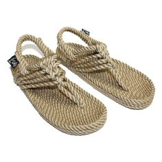 """Nomadic State of Mind """"Jester"""" Women's Rope Sandals. Hand made in Nicaragua from super soft rope, these light weight sandals are extremely comfortable. Adjustable back strap. Machine washable. Dries f"""