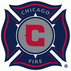 Chicago Fire Primary Logo (1998) - Red C inside silver circle in a navy blue fire department shield
