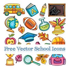 free-vector-school-icons-and-elements