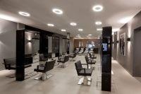 Hairdresser Sjenkels (Voorburg, NL) by Guy Sarlemijn Interior with Downut from Modular Lighting Instruments