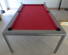 The Slimline Pool Table, we believe to be the slimmest Pool Dining Table you can find on the market. This table can be used as a stand alone Pool Table or as a Pool Dining Table due to its incredibly slim frame design. Diy Pool Table, Pool Table Dining Table, Diy Table, Pool Tables, Luxury Swimming Pools, Luxury Pools, Garage Game Rooms, Game Room Bar, Wood Games