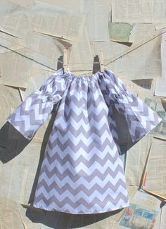Light Gray Chevron Dress // Baby Dress..with a cute pair of flats..to die for on a little girl