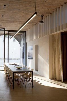 Gallery of Kirchplatz Office + Residence / Oppenheim Architecture + Design - 20 in 2020 Office Interior Design, Home Office Decor, Home Decor Kitchen, Office Interiors, Office Ideas, Linear Lighting, Lighting Design, Architecture Design, Home Decor Fabric