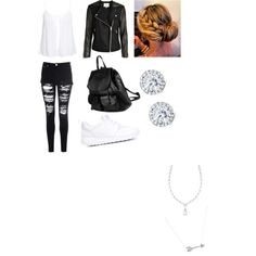 Untitled #7 by fufini on Polyvore featuring polyvore beauty Kobelli Adina Reyter PARENTESI New Look Glamorous NIKE