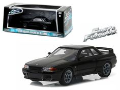 """1989 Nissan Skyline GT-R (R32 ) Fast and Furious """"Fast 7"""" Movie (2015 ) 1/43 Diecast Model Car by Greenlight - Brand new 1:43 scale diecast car model of 1989 Nissan Skyline GT-R (R32 ) Fast and Furious """"Fast 7"""" Movie (2015 ) die cast car model by Greenlight. Rubber tires. Brand new box. Limited Edition. Detailed interior, exterior. Comes in plastic display showcase. Dimensions approximately L-5 inches long.-Weight: 1. Height: 5. Width: 9. Box Weight: 1. Box Width: 9. Box Height: 5. Box…"""