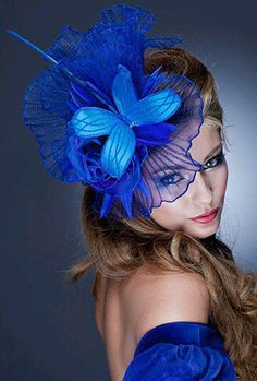 Guibert Millinery, Rock Me Rococo Collection. Fashion and Designer Style Crazy Hats, Fancy Hats, Kentucky Derby Hats, Turbans, Headscarves, Love Hat, Fascinators, Blue Fascinator, Headpieces