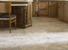 Kitchen Floor Tile Design, Kitchen Floor Tile Ideas with White Cabinets, Installing Tile Floor in Kitchen Floor Design, Tile Design, Installing Tile Floor, Best Flooring For Kitchen, Ceramic Floor Tiles, Glass Tiles, Travertine Tile, White Cabinets, Kitchen Remodel
