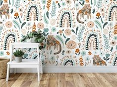 Surround your little ones with our Flower Tiger removable wallpaper. Easy do-it-yourself wall fabric. Choose between Peel & Stick Wallpaper and Pasted Wallpaper (Free adhesive). Free shipping above $250 in Australia 🇦🇺 * Any questions about this design? Send us an email to info@edgewallart.com.au and we will get back to you asap. Wall Fabric, Removable Wall Murals, Peel And Stick Wallpaper, Adhesive, How To Remove, Australia, Free Shipping, Simple, Easy