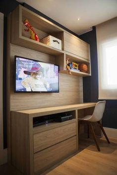 Amoblamientos para habitaciones de adolescentes. Con espacios para el estudio y esparcimiento. #TeensRoom #Adolescentes #Study #Furniture  www.cyramoblamientos.com