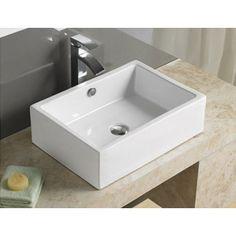 Vasque à Poser Rectangulaire, 51x36 cm, Céramique, Line