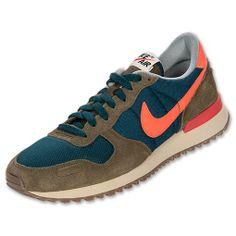 Men's Nike Air Vortex Vintage Casual Shoes| FinishLine.com | Midnight Turq/Green/Sail/Crimson