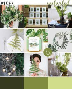 Ferns - creative ideas for using ferns in your wedding