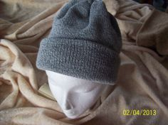 Grey Knitted Hat Knitted  Slouchy Beanie by SlouchyHatsBoutique, $12.00