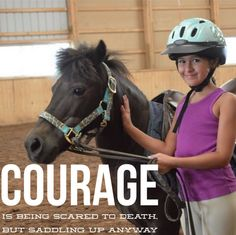 Our Grier Summer girls have so much courage! Horseback Riding, Summer Girls, Riding Helmets, Horse Riding, Equestrian