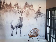 Een fotobehang van een hert voor Scandinavische sferen in je kamer Master Bedroom, Bedroom Decor, Moose Art, House Ideas, Walls, Animals, Decoration, Home Decor, Deco