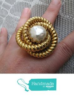 Gold and Pear Swirl Ring from JACIE http://www.amazon.com/dp/B016C94OTA/ref=hnd_sw_r_pi_dp_wx-fwb01KKP5E #handmadeatamazon