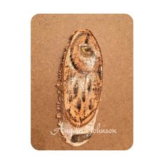 Original Pyrography Owl Portrait, Hand Tinted Birch Wood Slice, Wood Burning Miniature by angelaspaint on Etsy