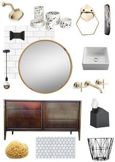 home progress: mixing modern & vintage in the bathroom - smitten studio // sarah sherman samuel