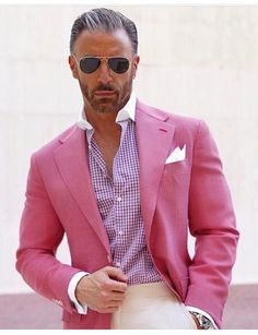 Cheap latest coat pant designs, Buy Quality blazer custom directly from China pink mens suit Suppliers: 2017 Latest Coat Pant Designs Hot Pink Men Suit Casual Blazer Custom Skinny 2 Piece Party Jacket Style Suits Groom Tuxedo Terno Sharp Dressed Man, Well Dressed Men, Mens Fashion Suits, Mens Suits, Traje Semi Formal, Stylish Men, Men Casual, Mens Casual Blazers, Smart Casual