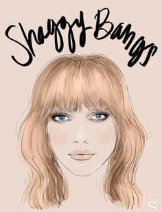 Bang Hairstyles: How the Coolest Girls Wear Bangs - Shaggy bangs, cut vertically in to the ends to give them a slightly piece-y texture.