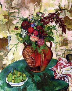 Still LIfe with Flowers and Fruit / Suzanne Valadon - 1932