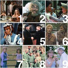 1. Little House on the Prairie 2. Catweazle 3. Roots 4. De kleine waarheid 5. Hollands Glorie 6. Van der Valk 7. Q & Q 8. MASH 9. Cassata