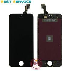100% nieuwe voor iphone 5 s lcd-scherm + touch screen digitizer + Bezel Frame + LCD Schuim + Camera Ring + Sensor Ring + Tool Gratis Verzending