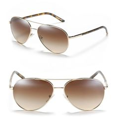 Prada Rounded Aviator Sunglasses ($270) ❤ liked on Polyvore