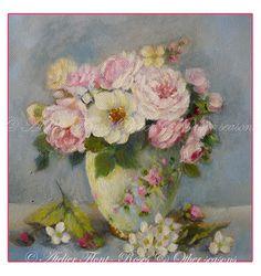 A winter bouquet in china vase - Atelier Flont
