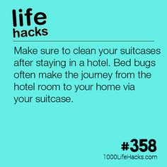 Clean Your Suitcases