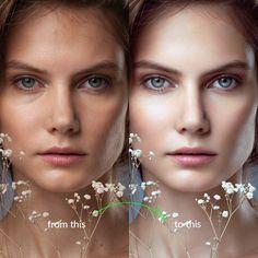 The complete Beauty and Portrait ONLINE Retouching Masterclass by photographer Rossella Vanon - retouched work for ELLE, Vogue, L'Officiel