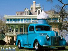 1941 Ford Pickup. I love the house too..Beautiful
