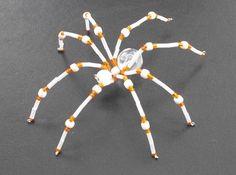 ~ Longhorns Orange and White Beaded Christmas Spider ~