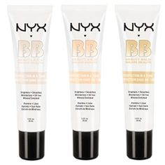 NYX BB Cream... I bought the light shade and I love it! Light coverage that doesn't make me break out.
