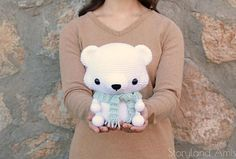 PATTERN: Cuddle-Sized Polar Bear Amigurumi Crocheted Teddy