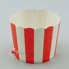 Red Stripe Cake Baking Paper Cup Cupcake Muffin Cases Liners Wedding Home Party