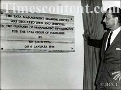 #Pune Noted industrialist JRD Tata inaugurates the Tata Management Training Centre - dedicated to the purposes of management development for the Tata Group of Companies at Poona in Maharashtra on January 6, 1966. (Source: The Times Of India Group)