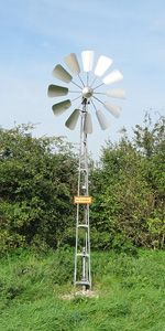 "Give this article a read - ""Build your own wind powered water pump."""