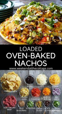 Mexican Food Recipes, Beef Recipes, Vegetarian Recipes, Cooking Recipes, Healthy Recipes, Pepper Recipes, Nacho Recipes, Healthy Nachos, Beef Meals
