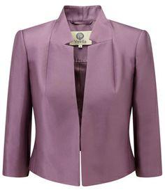 Amethyst Silk Cropped Jacket