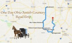 If you only have one day to spend in this beautiful portion of the state, it can be really tricky to pick out what spots to explore. Amish Town, Amish Country Ohio, Country Roads, Places To Travel, Places To Go, Ohio Map, Country Treasures, Day Trips, Weekend Trips