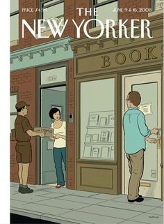 Adrian Tomine – Illustration for the New Yorker, June 2008 The New Yorker, New Yorker Covers, Capas New Yorker, Comic Book Artists, Comic Books, Omg Posters, Ligne Claire, Bd Comics, Inspirational Books
