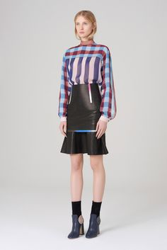 Marco de Vincenzo - Pre-Fall 2015  2015: I could definitely see wearing the top with leather pants. I love the skirt, too, but not in that context.