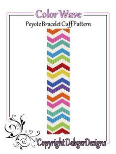 Color+Wave+-+Beaded+Peyote+Bracelet+Cuff+Pattern