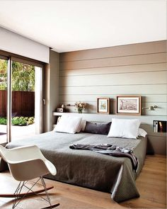 Muted green gray wall