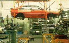 Audi Quattro, the Hall N2 production line circa '81. The Quattro was always a low volume hand built car.1,956 Quattro's left Hall N2 in '81, 95 of which made it to the U.K.