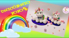 DIY -  UNICÓRNIO KAWAII EM BISCUIT NO MOLDE DE SILICONE ( UNICORN KAWAII...