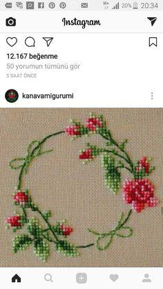 The most beautiful cross-stitch pattern - Knitting, Crochet Love Cross Stitch Borders, Cross Stitch Rose, Cross Stitch Flowers, Cross Stitch Charts, Cross Stitch Designs, Cross Stitching, Cross Stitch Embroidery, Embroidery Patterns, Hand Embroidery