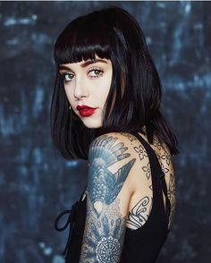 Hannah Pixie Snowdon She's so beautiful Tattoo Photography, Portrait Photography, Tatuajes Amy Winehouse, Sexy Tattoos, Girl Tattoos, Hannah Pixie Snowdon, Estilo Indie, Inked Girls, Tattoed Girls